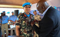 UNSOM recognises officers for distinguished service